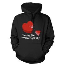 Piece of Cake #194 - Men's Hoodie - Funny Humor Valentine's Day Love - $38.99