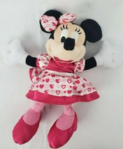 "Disney Parks Minnie Mouse 10"" Plush Pink Satin Dress Shoes Bow Hearts Lipstick - $16.93"