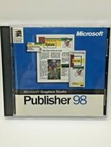 Microsoft Publisher 98 / PC CD Software CD Microsoft Graphics Studio 2PB - $12.19