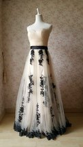 Ivory Strapless High Waist Bridesmaid Dress Embroidery Maxi Wedding Dresses 2018 image 1