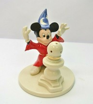 Disney Lenox Mickey Mouse Sorcerer's Apprentice Lighted Fine China Sculp... - $49.99