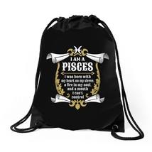 I Am A Pisces 2400x3200 Drawstring Bags - $30.00