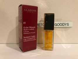 Clarins Instant Light Lip Comfort Oil #01 Honey NIB - $12.46