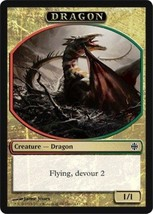 Magic The Gathering Alara Reborn Dragon Token Card NM 2009 - $3.99