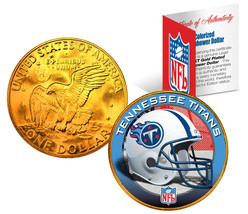 TENNESSEE TITANS NFL 24K Gold Plated IKE Dollar US Coin OFFICIALLY LICENSED - $9.85