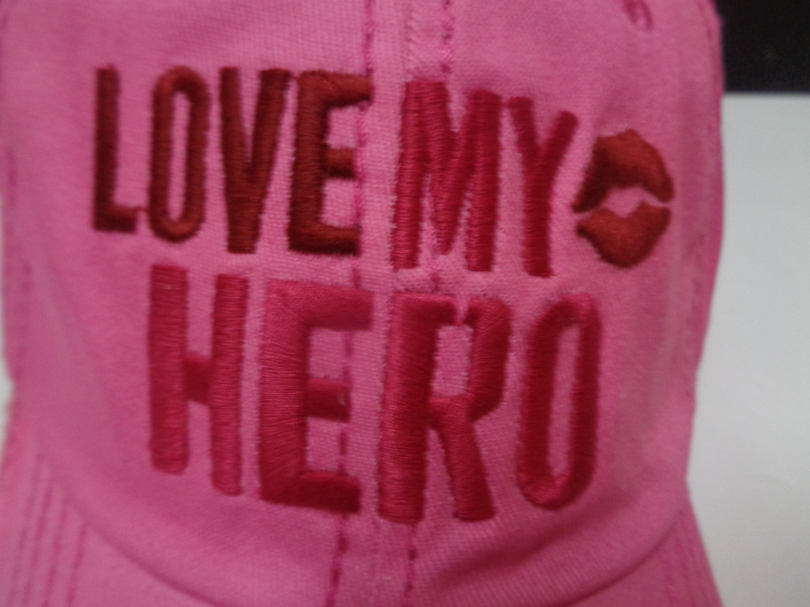 Love My Hero Pink Baseball Hat NWT Homefront Military Adjustable Gaby Juergens