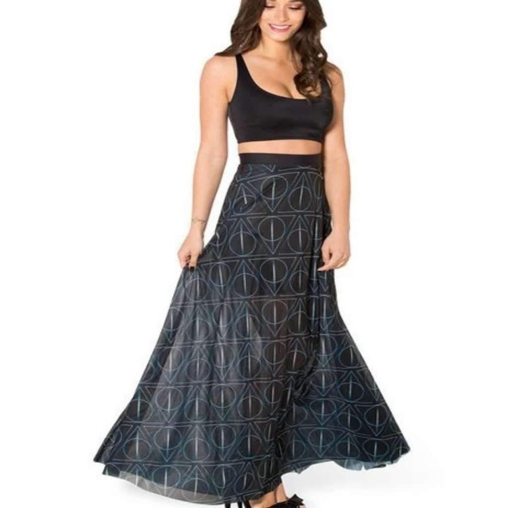 Novelty Pleated High Waist Maxi Long Skirt