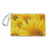 Sunflowers Canvas Zip Pouch - $15.99+