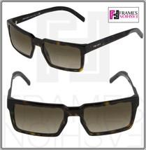 Prada 03S Technique Square Brown Tortoise Gradient Sunglasses Unisex PR03SS - $262.35