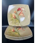 "(4) 222 Fifth PTS International Antigua 10.25"" Floral Hummingbird Dinner... - $49.49"