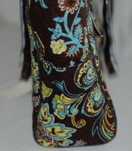 N Gil Product Number PRY2424 Large Diaper Bag Brown Teal Green Paisley Pattern image 3