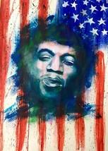 Jimi Hendrix  Stars & Stripes  2.5 x 3.5 Fridge Magnet - $3.99
