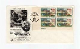 FDC ENVELOPE-NEVADA CENTENNIAL- 4BL 1964  ARTCRAFT  CACHET BK13 - $1.23