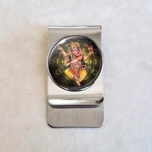 Ganesha Ganapati Vinayaka Binayak Hindu Hinduism Stainless Steel Money Clip - $20.00