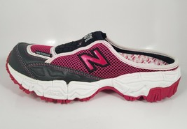NIB NEW BALANCE W801PR GRAY PINK LEATHER MESH SANDALS SLIDE SNEAKERS B M... - $61.74