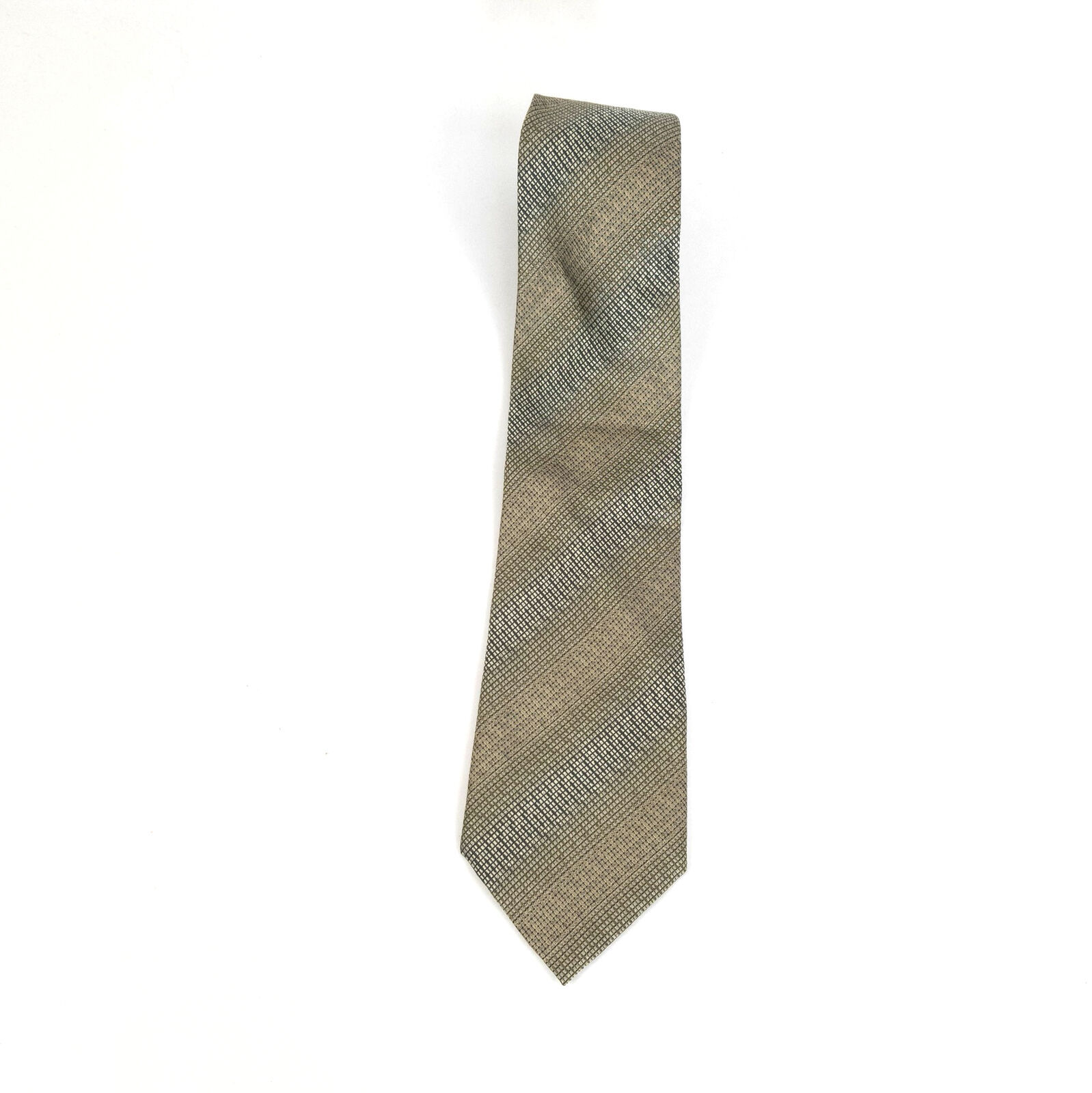 Kenneth Cole New York Green Geometric Silk Necktie Tie image 2