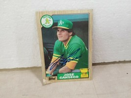 JOSE CANSECO 1987 TOPPS SIGNED AUTO BASEBALL CARD #620 OAKLAND A'S Y222 - $20.90
