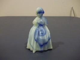 Vtg. Rosso Glass Co. Charlotte Little Girl Glass Figurine Blue Opalescen... - $9.89