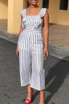 Casual Striped Loose One-piece Jumpsuit - $26.30