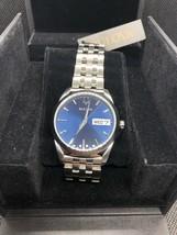 Brand New! BULOVA 96C129 STAINLESS STEEL BLUE DIAL QUARTZ MEN'S WATCH - $60.00