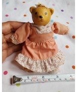 RUSS BEAR IN pretty DRESS pre-owned nice condition - $8.47
