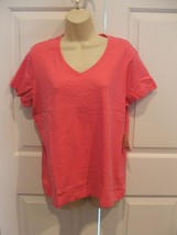 Nwt St. Johns Bay Shocking PINK100% Cotton Top Size Petite Xlarge - $11.13