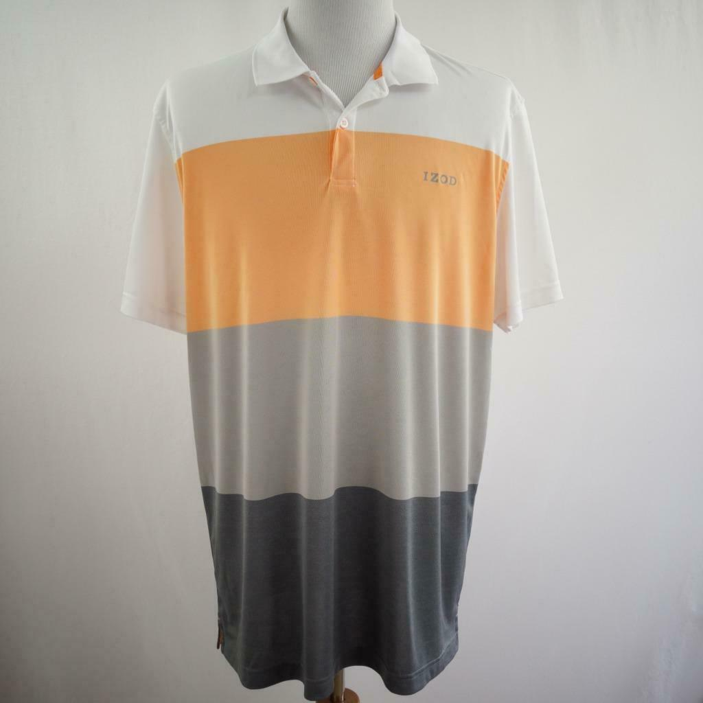 Primary image for IZOD Golf 2 Button Polo Mens Sz XL