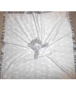 Target Cloud B Grey Bear Baby Security Blanket Lovey Oversized Satin Tri... - $18.69