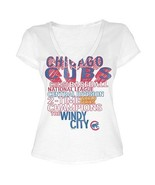 MLB  Woman's Chicago Cubs WORD White Tee with  City Words XL - $15.99