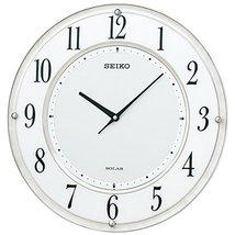 SEIKO Clock Clock Solar Standard Analog Radio Hanging Clock (White Marble Painte - $238.40