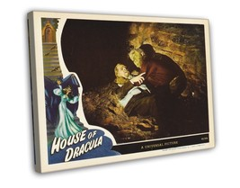 House of Dracula 1945 Vintage Movie FRAMED CANVAS Print 7 - $14.96+