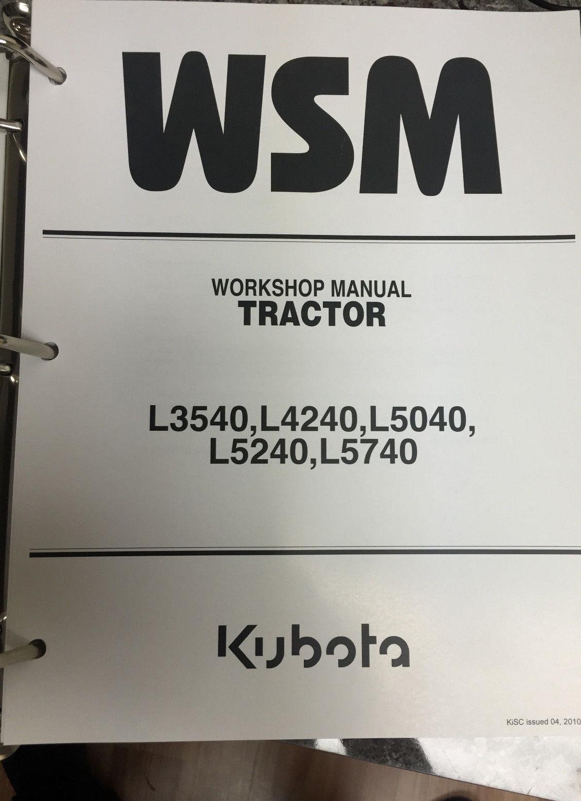 66. 66. Kubota L3540, L4240, L5040, L5240, L5740 Tractor Workshop Manual