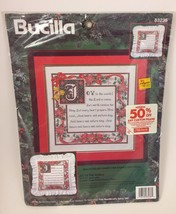 "Bucilla Counted Cross Stitch Kit Christmas  JOY TO THE WORLD 14"" X 14"" 83236 - $18.99"