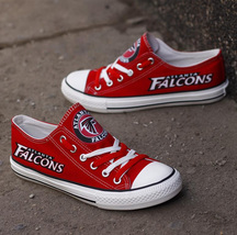 falcons shoes womens converse style falcons sneakers atlanta football fans gifts - $56.00