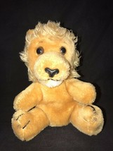 "1975 Dakin Stuffed Lion 8"" Sitting Ground Nut Shells Korea 70s Plush Toy... - $16.88"