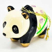Handcrafted Painted Ceramic Panda Bear Confetti Ornament Made in Peru image 2