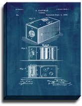 Eastman Camera Patent Print Midnight Blue on Canvas - $39.95+