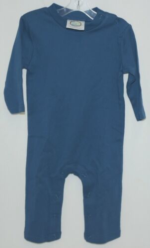 Blanks Boutique Boys Long Sleeved Romper Color Blue Size 12 Months