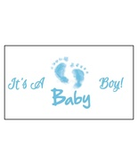 16 Boy Baby Shower Stickers, It's a boy, Labels, party supplies,Blue,Bab... - $8.99
