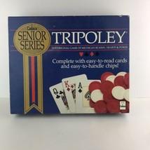 Vintage 1989 Tripoley Senior Series Game By Cadaco Michigan Rummy Hearts... - $39.59