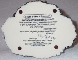 Boyd Bearstone Resin Bears Stephanie John & George Figurine #228348 1E image 4