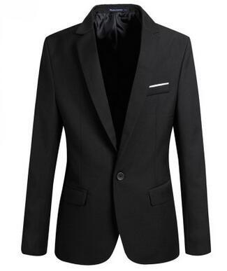 Men's Single Button Blazers Jacket