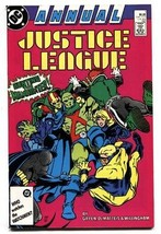 Justice League Annual #1 1987 - Booster Gold - Martian Manhunter - DC comic - £18.84 GBP