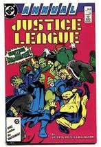 Justice League Annual #1 1987 - Booster Gold - Martian Manhunter - DC comic - $25.22