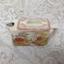 Vintage, Oriental Garden Japan, Gaudy Blue Willow Teapot  6.25inx2inx3.5inH (#2) - $56.95