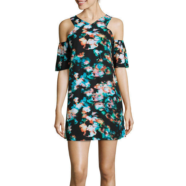 Decree Short-Sleeve Cold-Shoulder Dress Juniors Size M New Msrp $42.00  - $14.99