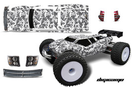 Rc Grafik Kit Abziehbild Wrap für Jconcepts Punisher RC8T Illuzion Digi Wht - $29.65