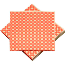 Red & Yellow Check Paper Napkins - $7.39