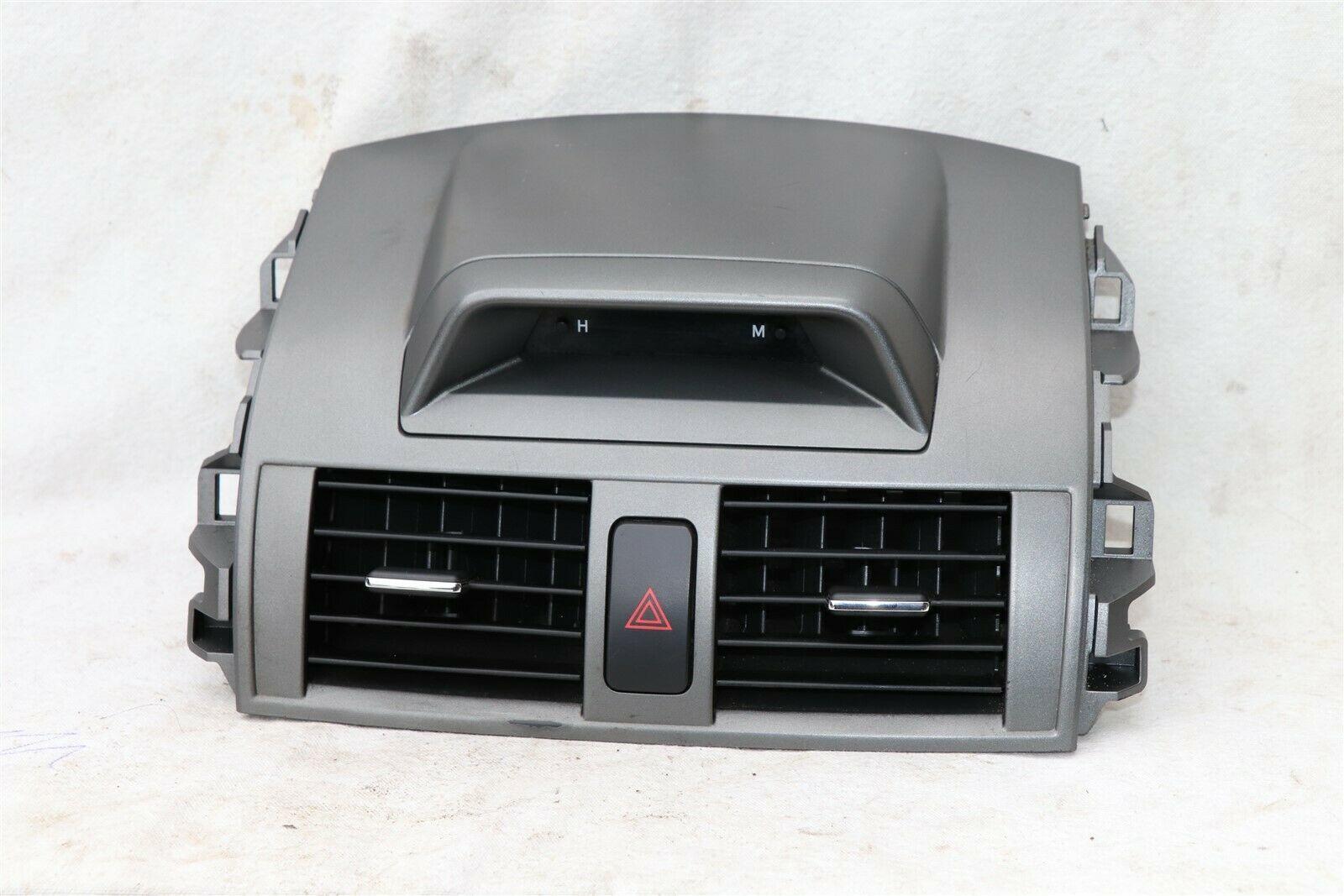 09-11 Toyota Corolla OEM Black Center Dash Top Trim Bezel Air Vents W/ Clock