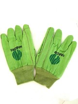 Nabors Industrial Maintenance Work Safety Green Gloves Large Heavy Cotto... - $12.86